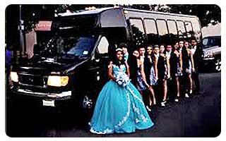 quinsianera party bus