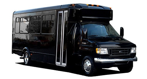 exterior- 16 to 20 passenger party bus