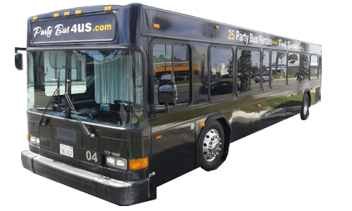 large 50 passenger party buses for rent in Orange County